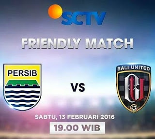 SCTV Siarkan Langsung Persib Bandung vs Bali United Pusam Sabtu 13 Februari 2016