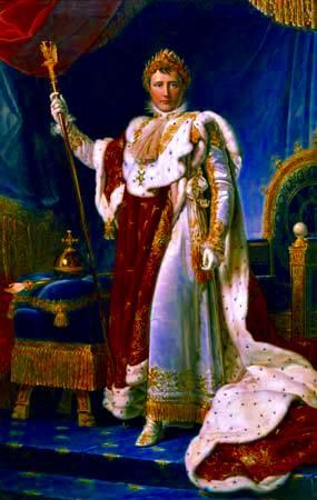 Napoleón en sus trajes imperiales