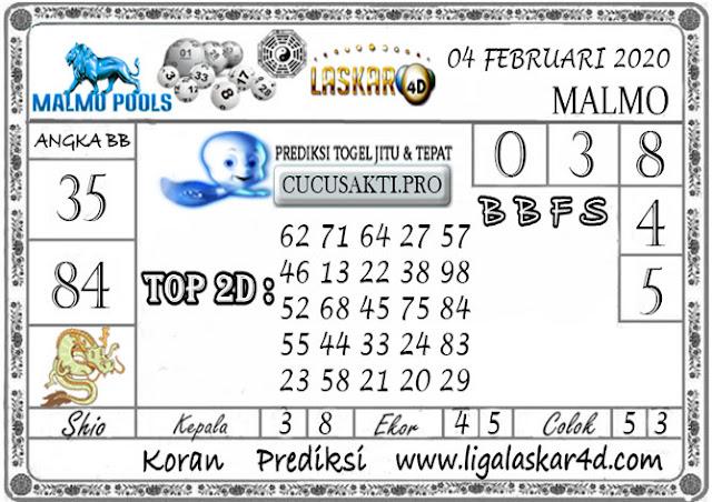 Prediksi Togel MALMO LASKAR4D 04 FEBRUARI 2020