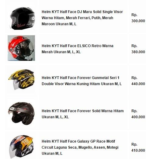 Helm KYT Half Face