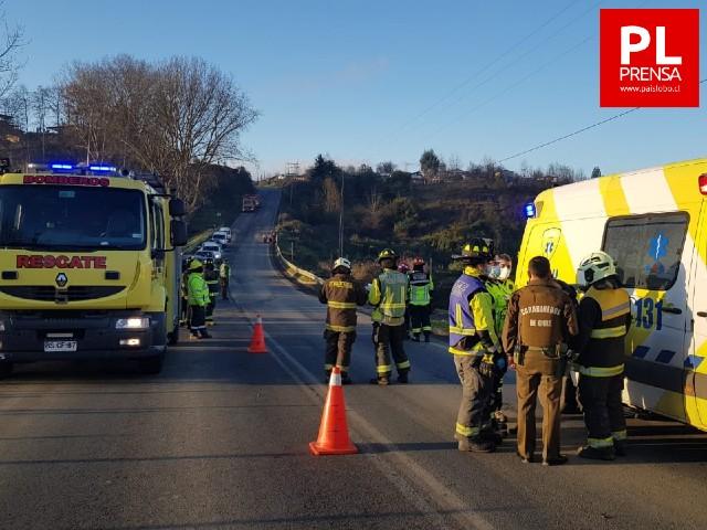 Osorno: Accidente de tránsito en camino a Las Vegas