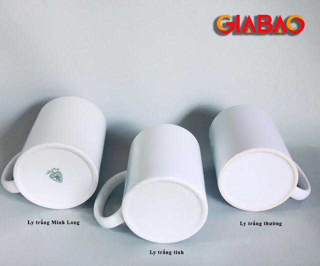 Hình ảnh của các loại ly sứ trắng