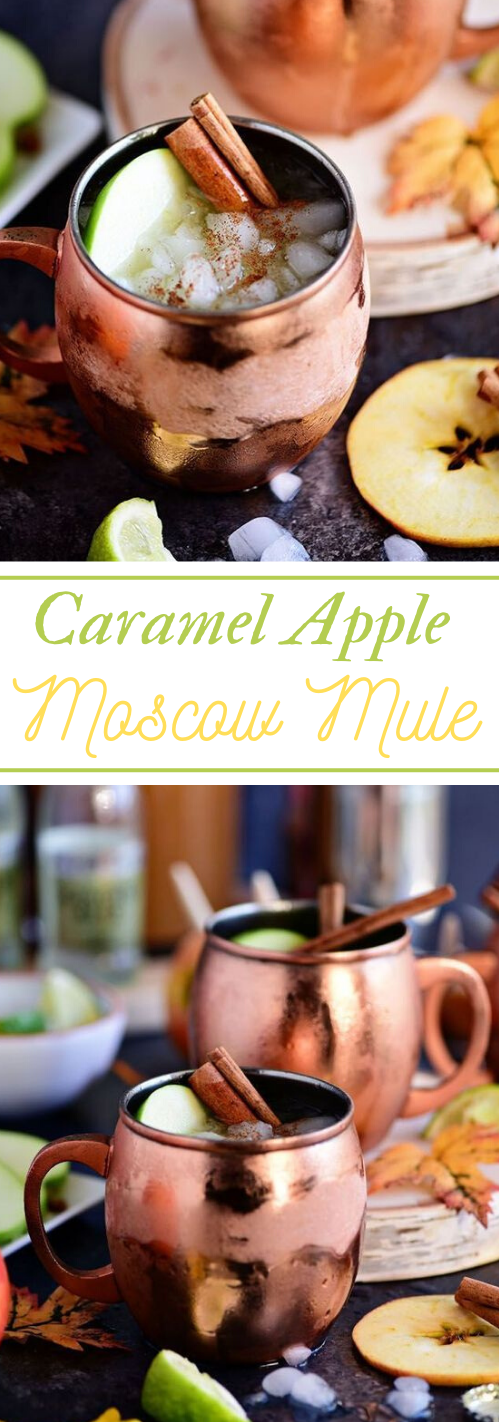 CARAMEL APPLE MOSCOW MULE FALL COCKTAIL #drink #cocktail #apple #caramel #easy