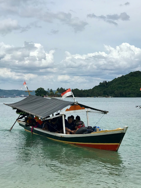 Boat at the Mutun Beach, Lampung