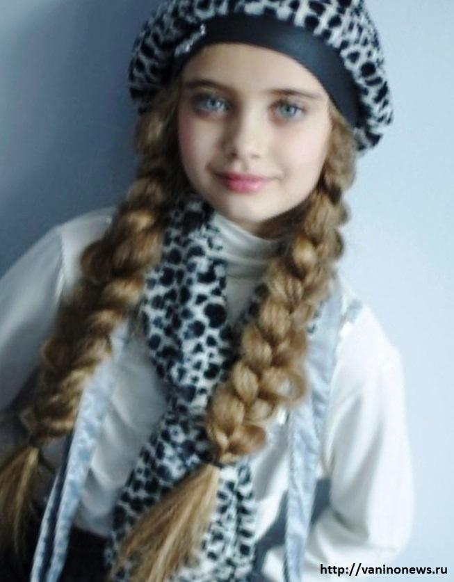 Фото: Анна Бец, красивая мини-супермодель (www.vaninonews.ru) красивая девочка модель