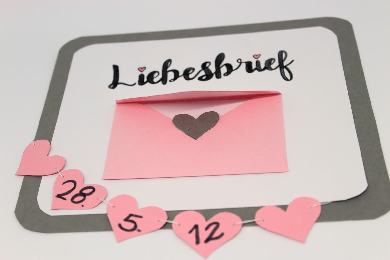 Von Herzen Diy Valentinstagsgeschenk Liebesbrief Ganz Einfach