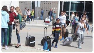 عاجل / بالفيديو : وصول حوالي 364 سائحا روسيا إلى مطار المنستير