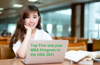 Top Five one year MBA Program in the USA 2021