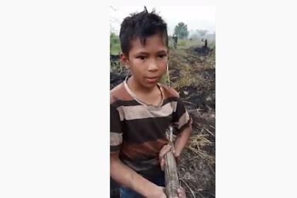 Farhan, Bocah Pemberani Yang Bantu Padamkan Api Kebakaran Di Riau, Masya Allah