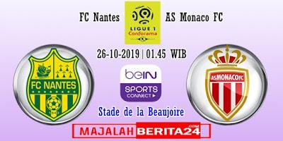 Prediksi FC Nantes vs AS Monaco — 26 Oktober 2019