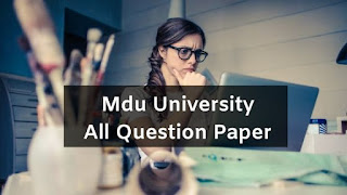 Mdu All Course Question Papers 2019