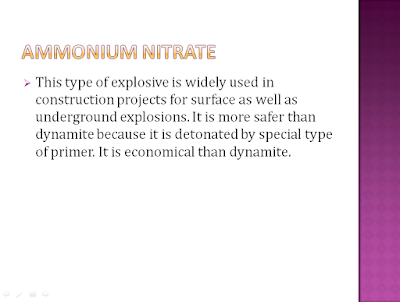 ammonium nitrate used for blasting