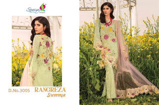 Saniya trendz Rangreza Summer Cotton pakistani Suits