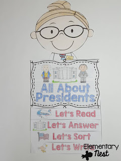 Presidents Day Flip Book- February Activities and FREEBIES- activities for primary students- February reading, math, writing, social studies and more! Valentine's Day, Presidents Day, Black History Month, Dental Health Month