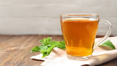peppermint tea provides healthy morning