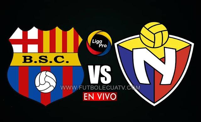 Barcelona SC y El Nacional se enfrentan en vivo desde las 18h30 hora local, por la jornada quince de la Liga Pro, transmitido por GolTV Ecuador a efectuarse en el estadio Monumental Banco Pichincha. Con arbitraje principal de Jaime Sánchez.