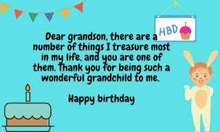 free birthday wishes for grandson