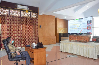 Bupati Batanghari Menyaksikan MUsrenbangnas Oleh Presiden RI Joko Widodo Melalui Video Teleconference