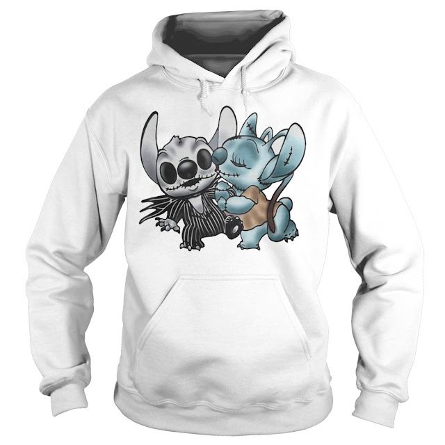 Stitch and Angel Jack Skellington The Nightmare Before Christmas Hoodie, Stitch and Angel Jack Skellington The Nightmare Before Christmas T Shirts