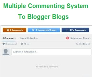 How To Add Disqus Facebook and Blogger Default Commenting