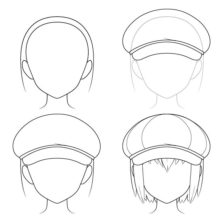 Gambar topi tukang koran anime selangkah demi selangkah
