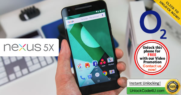 Factory Unlock Code LG Nexus 5X from O2