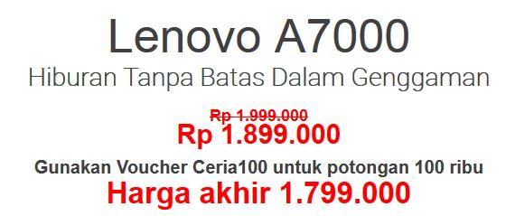 flas sale lenovo a7000 rp1.799.000