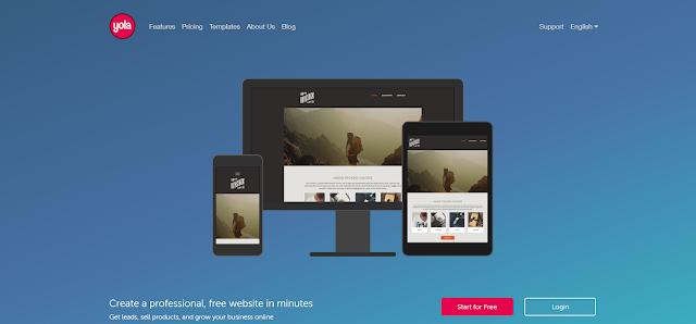 Yola a Platform to create a free blog or make a free Web page websites