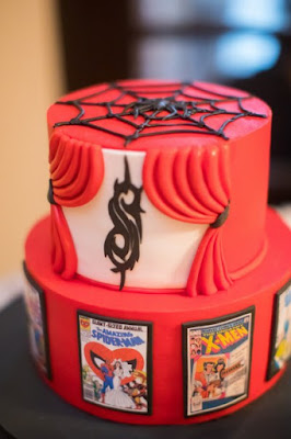 spiderman grooms cake