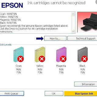 Unlike the previous Epson printer outputs, for low entry series class T13x or TX121x, how to reset it requires a process that may not be a direct reset once