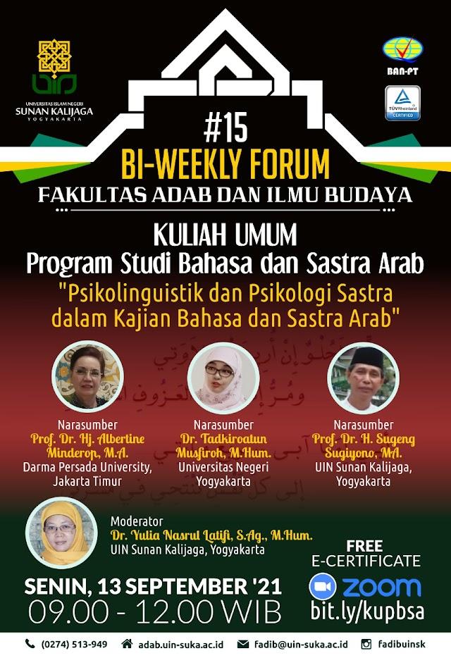 Bi-Weekly Forum Asah Kepekaan Lingusitik Mahasiswa