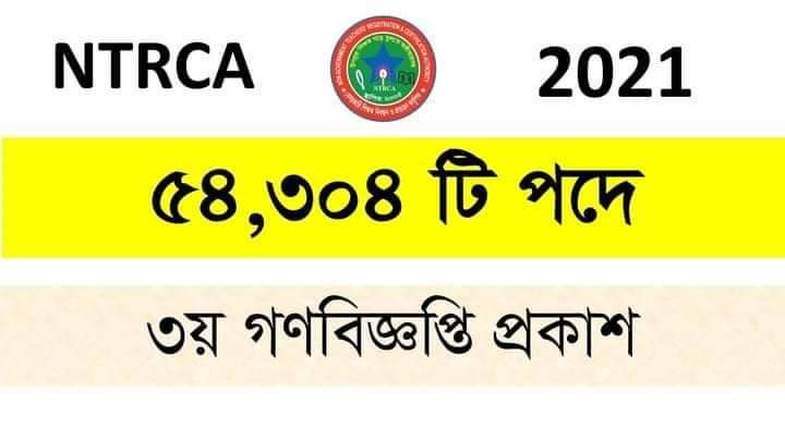 NTRCA Notice 2021
