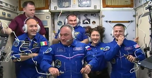 astronauts arrive at space station on 50th anniversary of moon landing