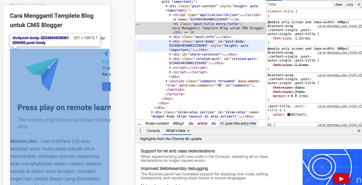 cara mempelajari Code HTML sebuah Situs dengan Browser