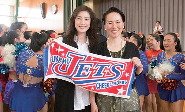 Yuku Amami bersama jurulatih sebenar JETS, Yuko Igarashi