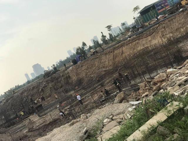 Tiến độ 3 tòa chung cư b1.3 Thanh Hà ngày 14/6/2017