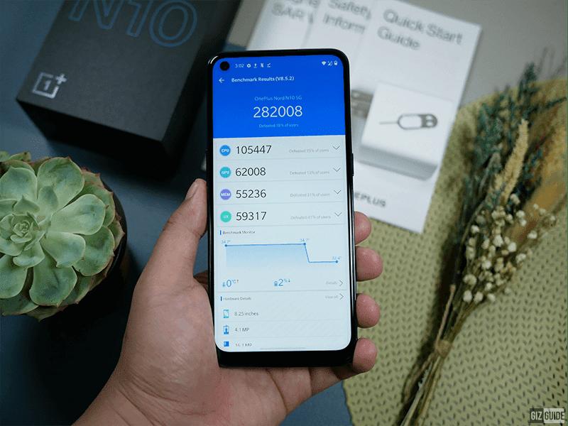 OnePlus Nord N10 5G AnTuTu score