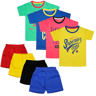 Luke & Lilly Boys Cotton Half Sleeve Tshirt and Shorts