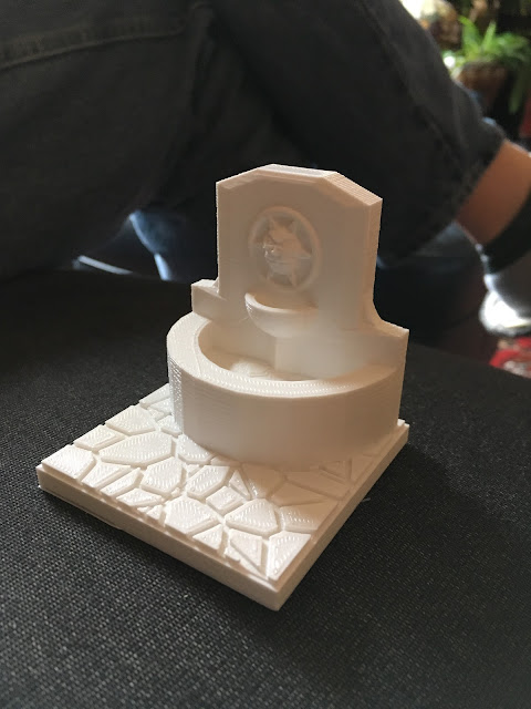 3D Printed fountain for Dept 56 Dickens Village
