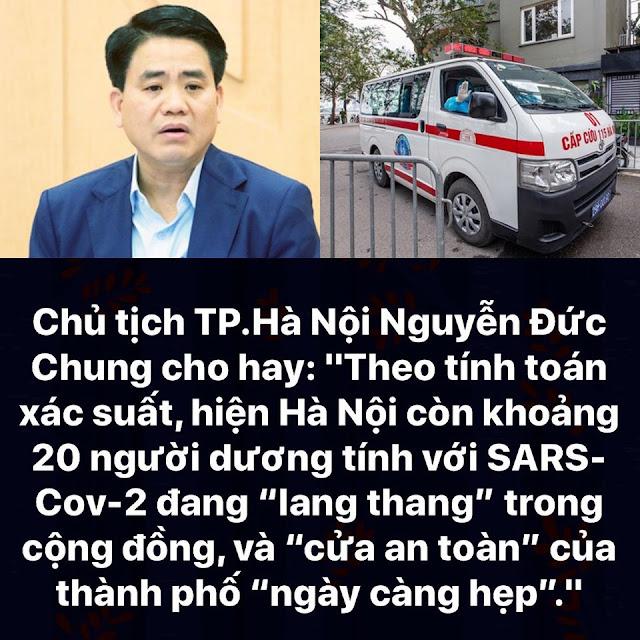 """Có khoảng 20 người dương tính với Covid-19 đang """"lang thang"""" tại Hà Nội"""