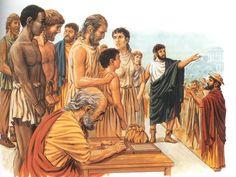 la Grecia e gli schiavi