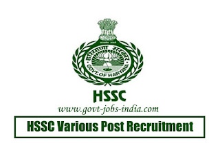 HSSC Various Post Recruitment 2020