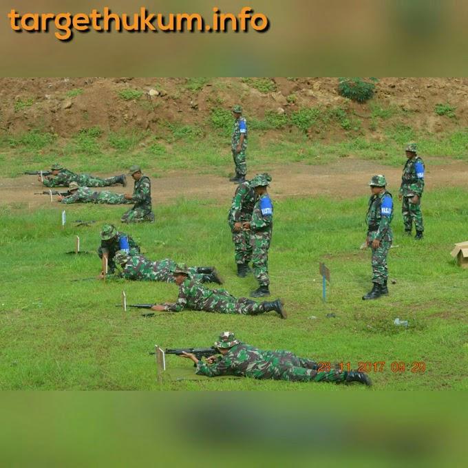 Personel Jajaran Kodim 0718 PATI Berlatih Menembak Guna Mendukung Tugas Pokok Benteng NKRI