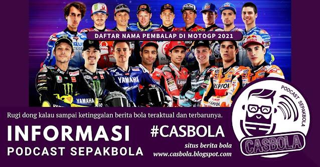 daftar nama pembalap motogp 2021