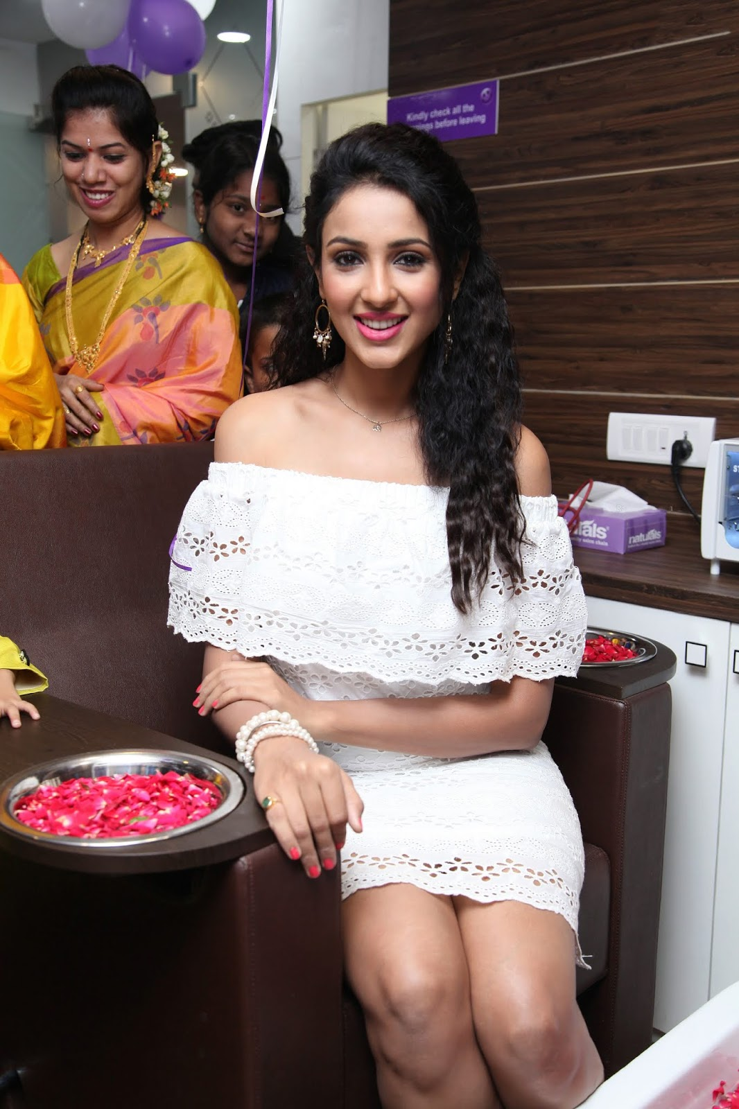 Priyashri Displaying Her Milky Thighs In White Short Outfit At Public Meeting