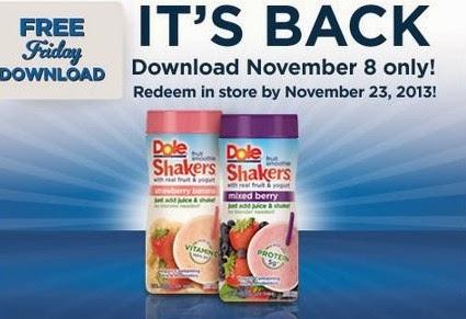 Sweet Tea Savings Kroger Friday Freebie Dole Fruit Smoothie Shaker