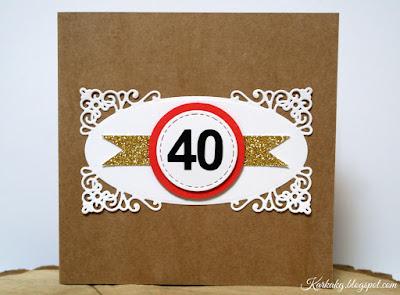 Prosta kartka z okazji 40 urodzin