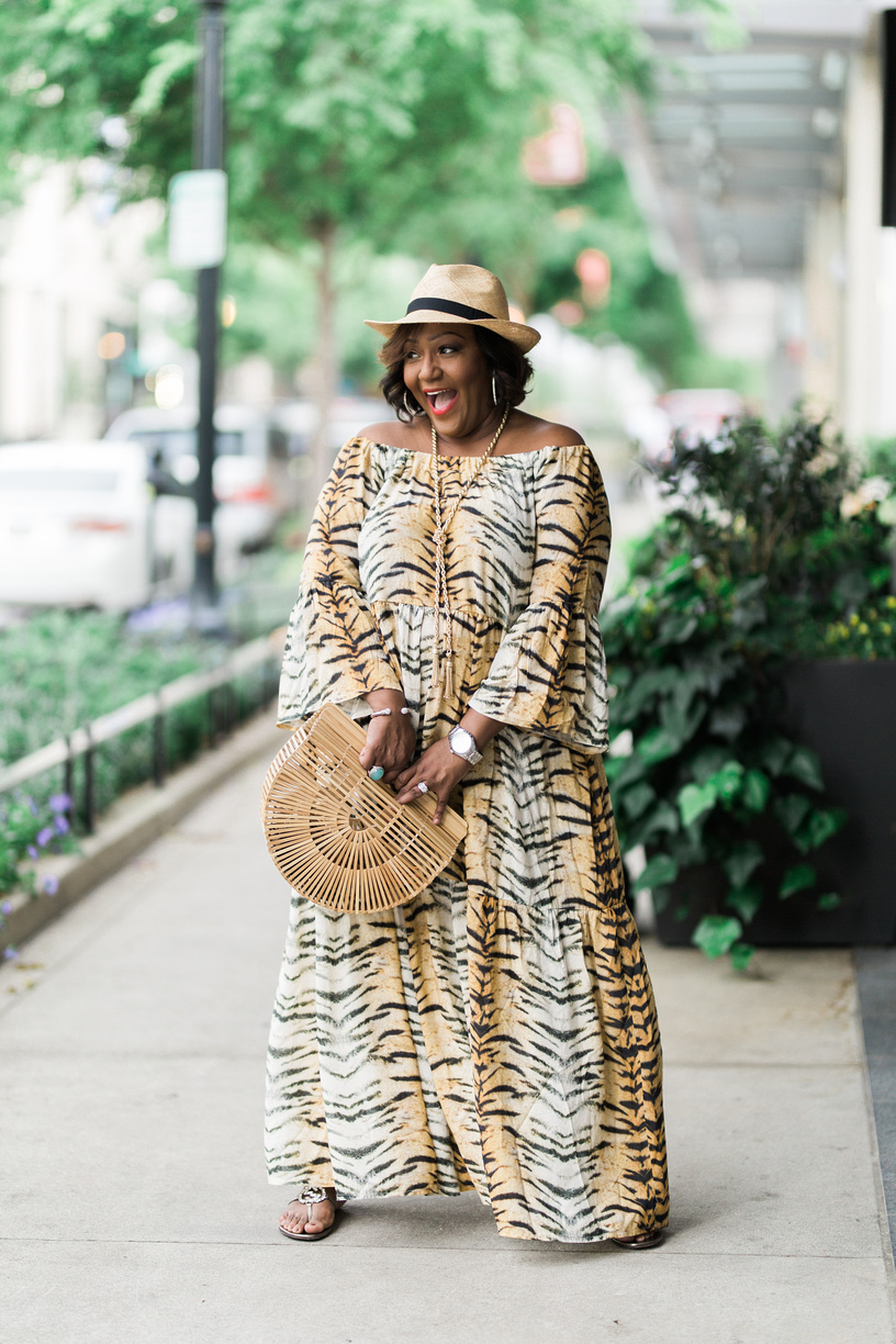 Nikki free style animal print maxi dress