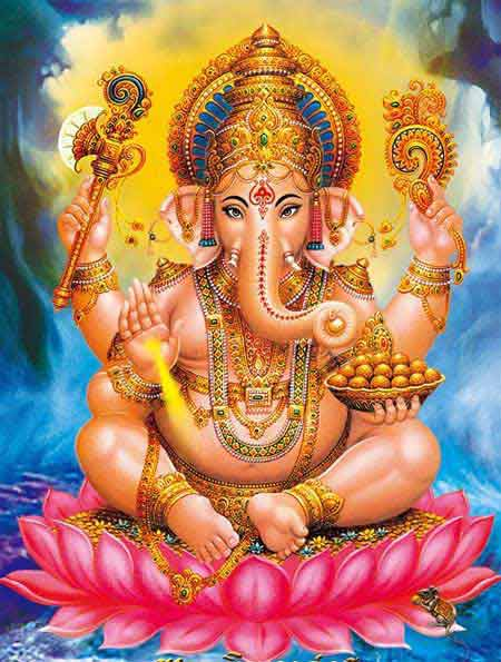Human Character Defects As Demons Defeated By Ganesha