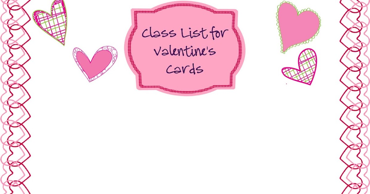 Fun In Room B ValentineS Day Class List Freebie And More